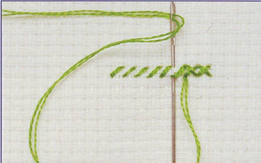 Как начинать вышивку в одну нить 91
